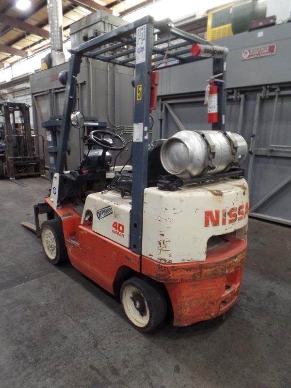 Nissan 40 Optimum Forklift, s/n CPJ02-2P7323?, 24,042 hrs. - Image 2 of 5