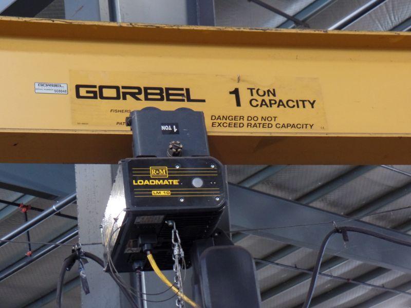 1 Ton Gorbel Jib Crane RM Loadmate 1 Ton Hoist - Image 2 of 4