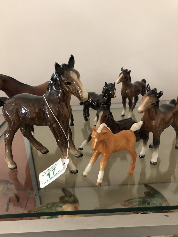 Lot 17 - Seven Beswick foals.