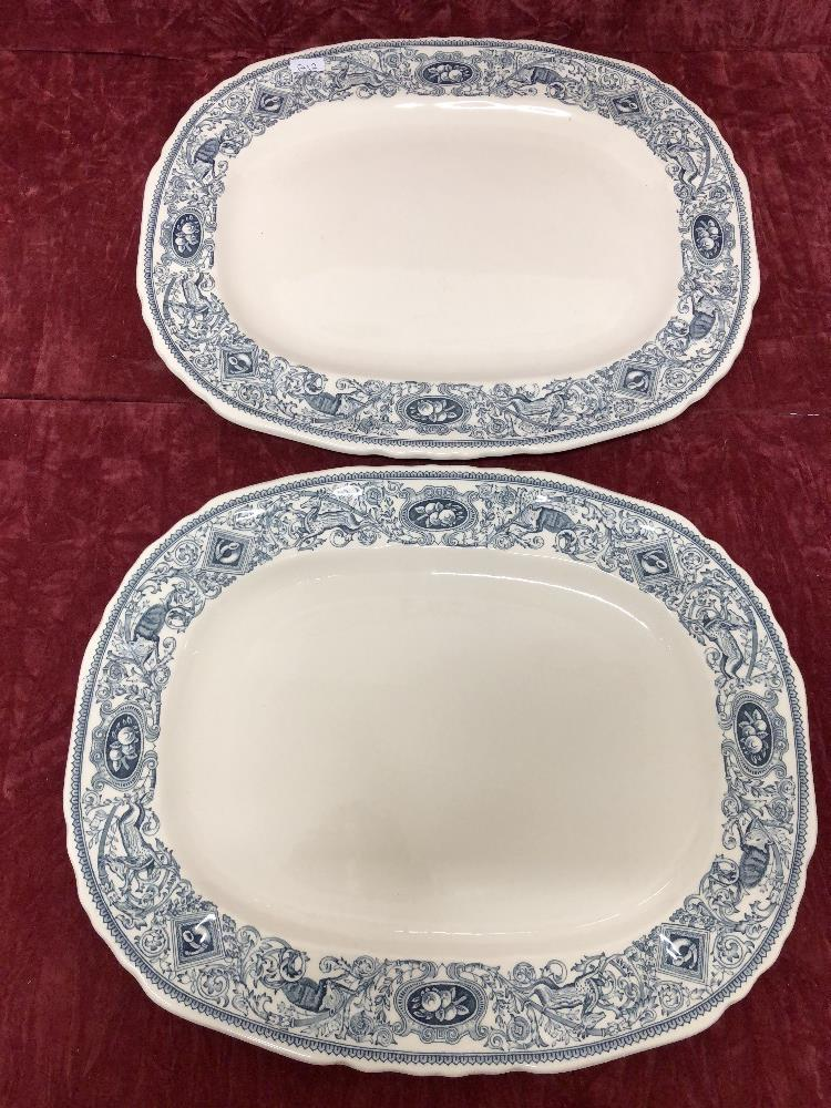 Lot 35 - A pair of Masons turkey plates and one other.