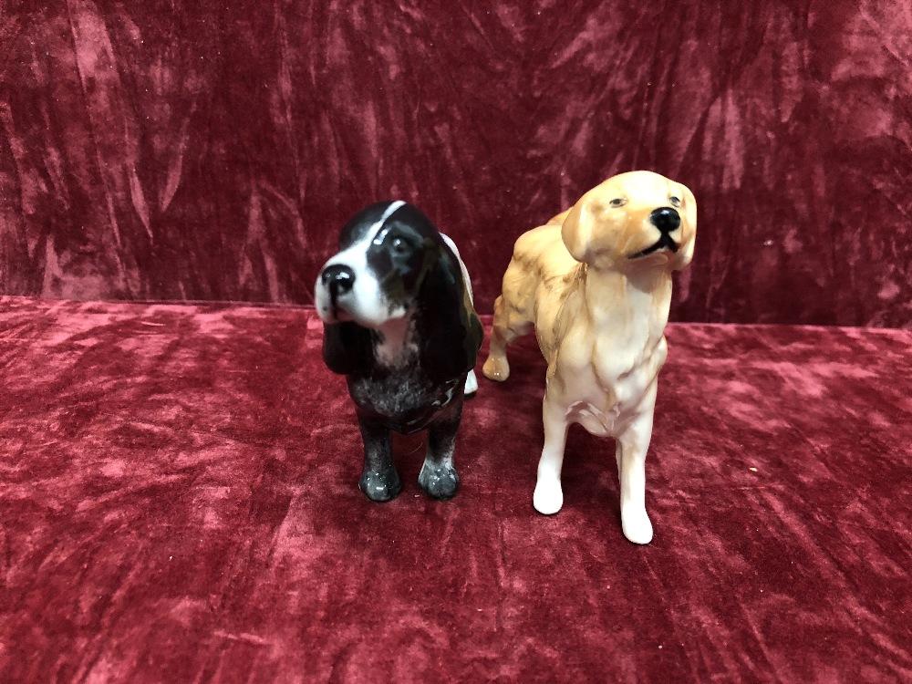 Lot 10 - Eight small Beswick dogs.
