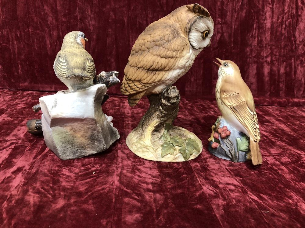Lot 52 - Three assorted ceramic figures of birds - Aynsley, Coalport and Royal Worcester.