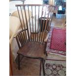 A 19th Century Comb Back Armchair