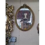 A Small Gilt Framed Wall Mirror