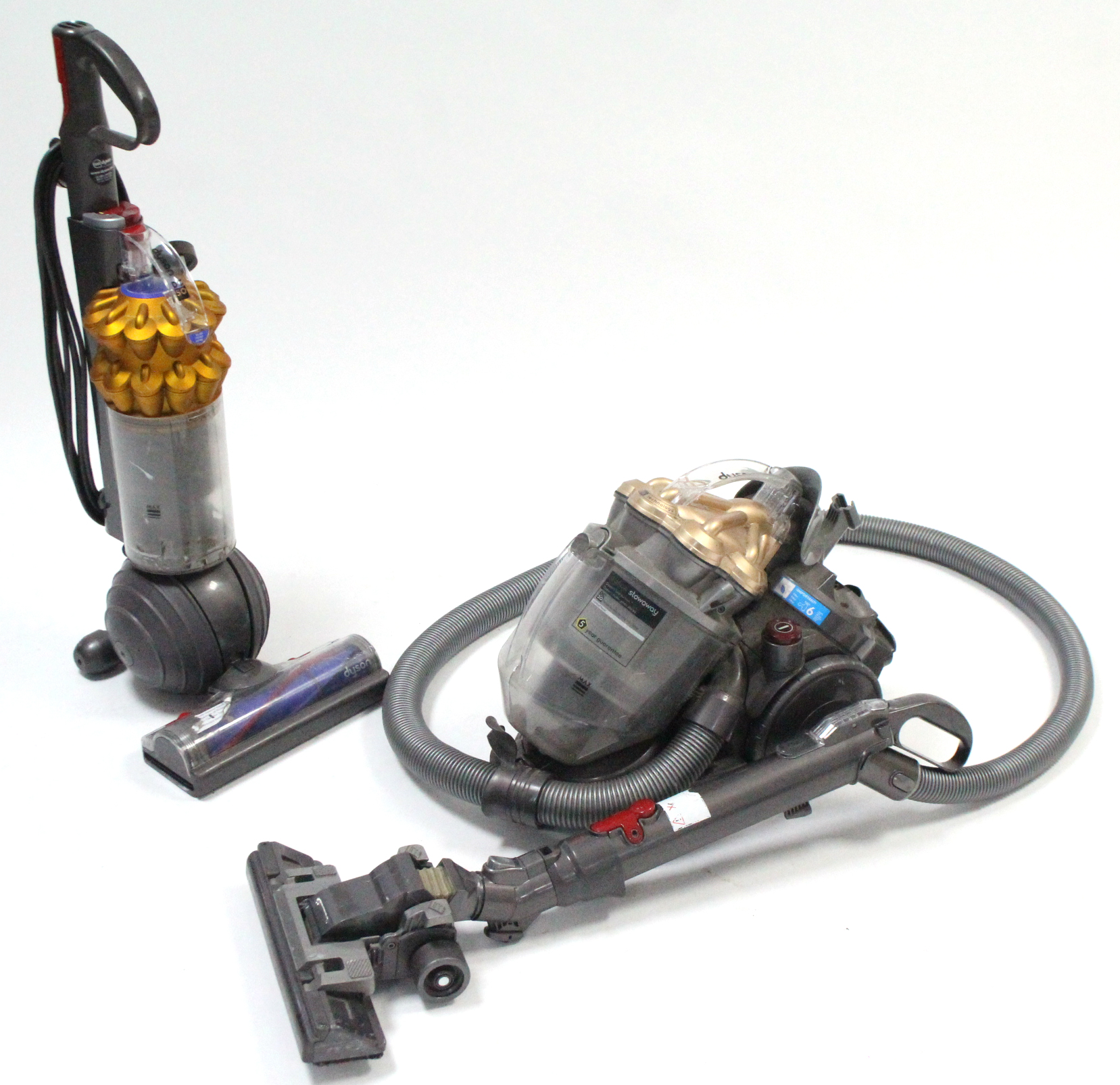 """Lot 207 - A Dyson """"DC20"""" vacuum cleaner; & a ditto """"DC50"""" vacuum cleaner, both w.o."""