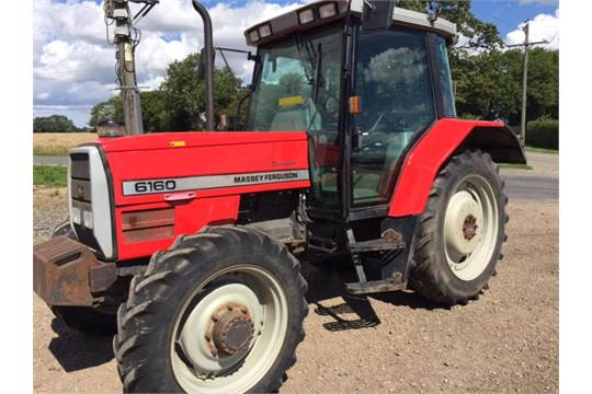 1997 Massey Ferguson 6160 Tractor c/w front weights
