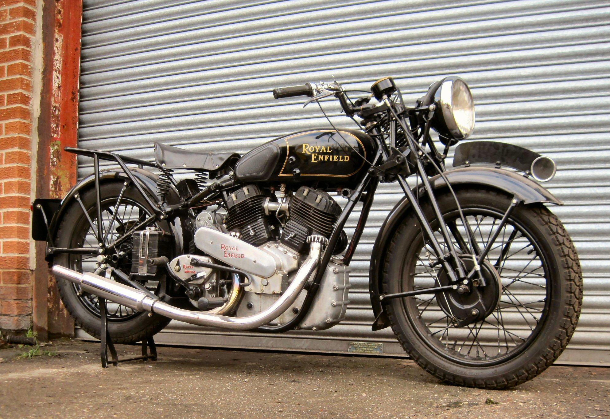 1938 1,140cc Royal Enfield Model KX Reg. No. PSJ 697 Frame No. 22536 ...