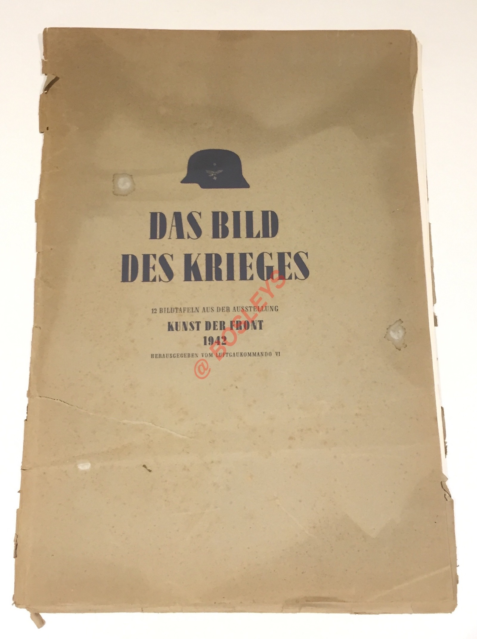 """German Third Reich WW2 Folio """"Das Bid De Krieges"""" Kunst de"""
