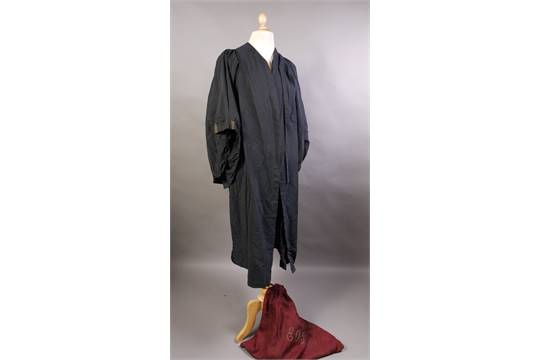 A Barristers gown by Ede, Son & Ravenscroft of London, together ...