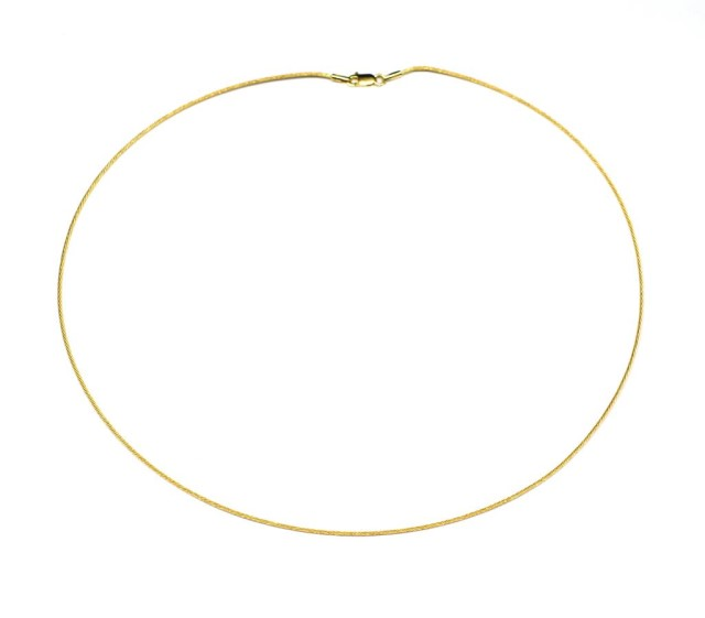 Lot 44 - 18ct yellow gold omega chain necklace