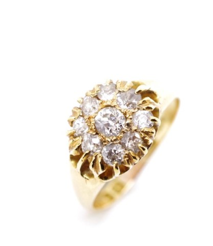 Victorian diamond and 18ct yellow gold ring