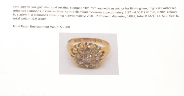 Victorian diamond and 18ct yellow gold ring - Image 8 of 8