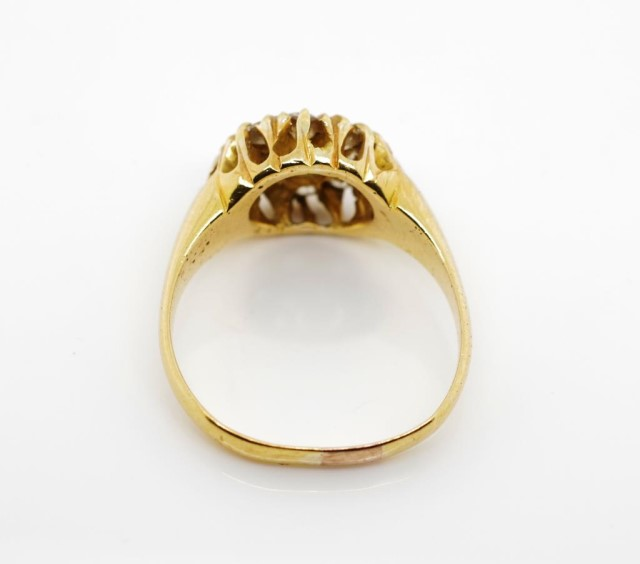 Victorian diamond and 18ct yellow gold ring - Image 5 of 8