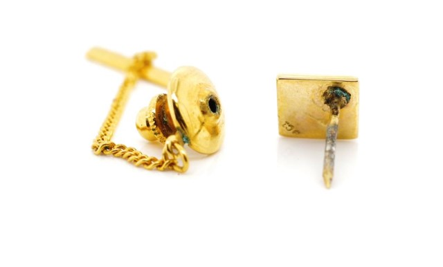 Vintage diamond and 9ct yellow gold tie tack - Image 3 of 4