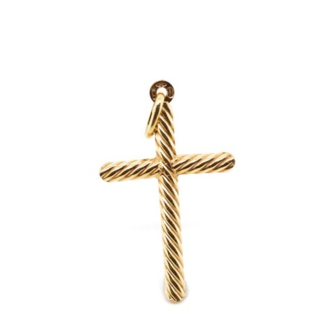 Lot 54 - 9ct rose gold cross