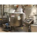 Used- Oakes Stainless Steel Slurry Mixer, Model 50SM40. 1,500 Pound Capacity