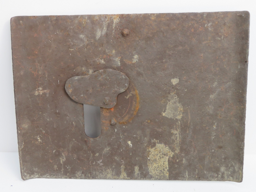 Lot 67 - A WWI German sniper plate, with peephole