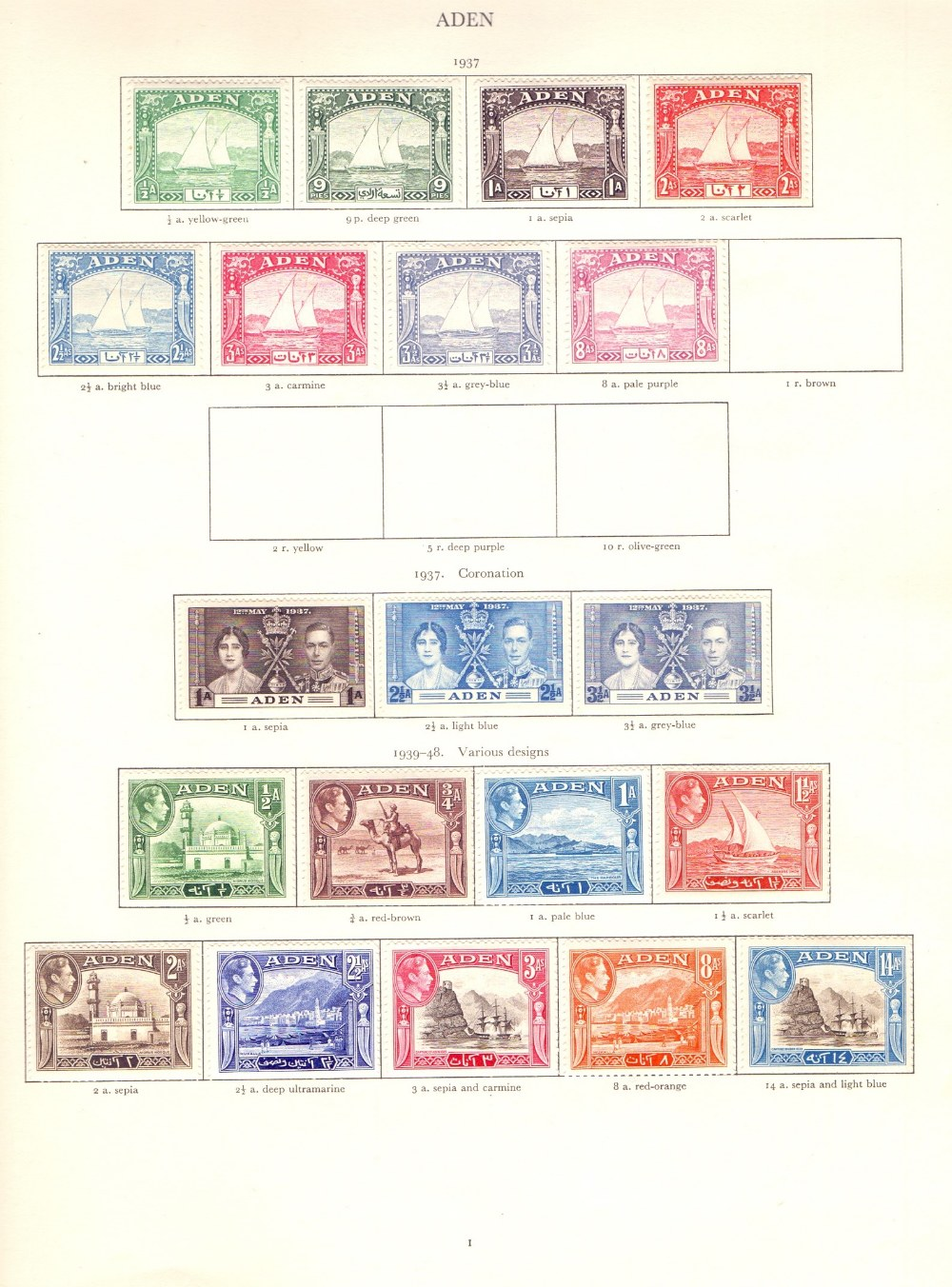 STAMPS : GVI Red Crown album mounted mint ,