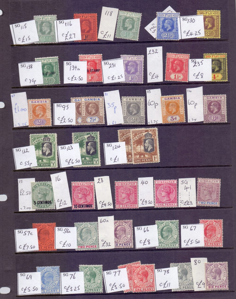 Lot 27 - STAMPS : Commonwealth singles and in album on stock pages,
