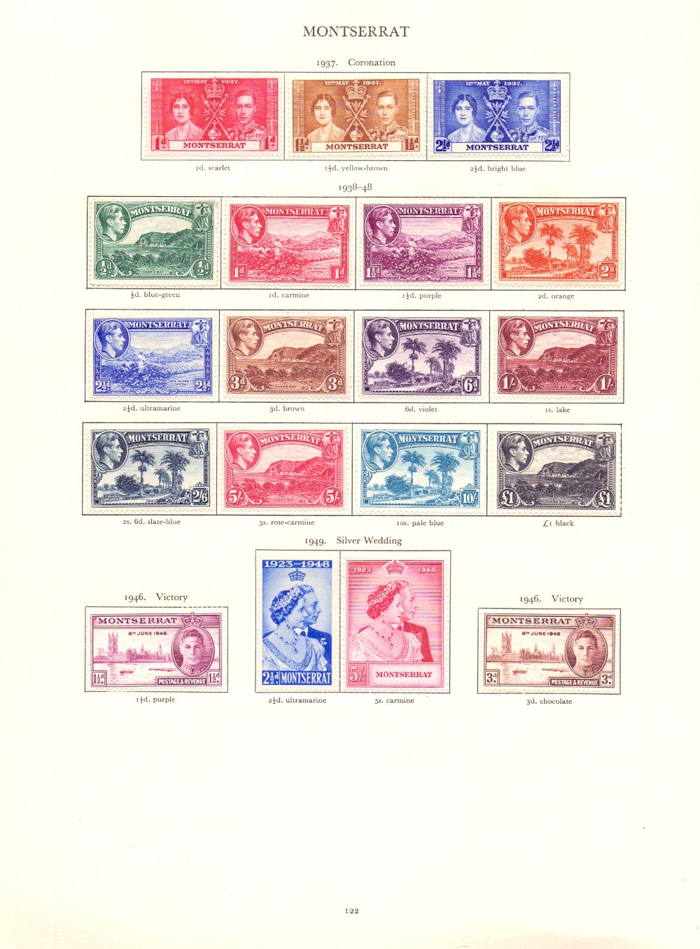 STAMPS : GVI Red Crown album mounted mint , - Image 2 of 2