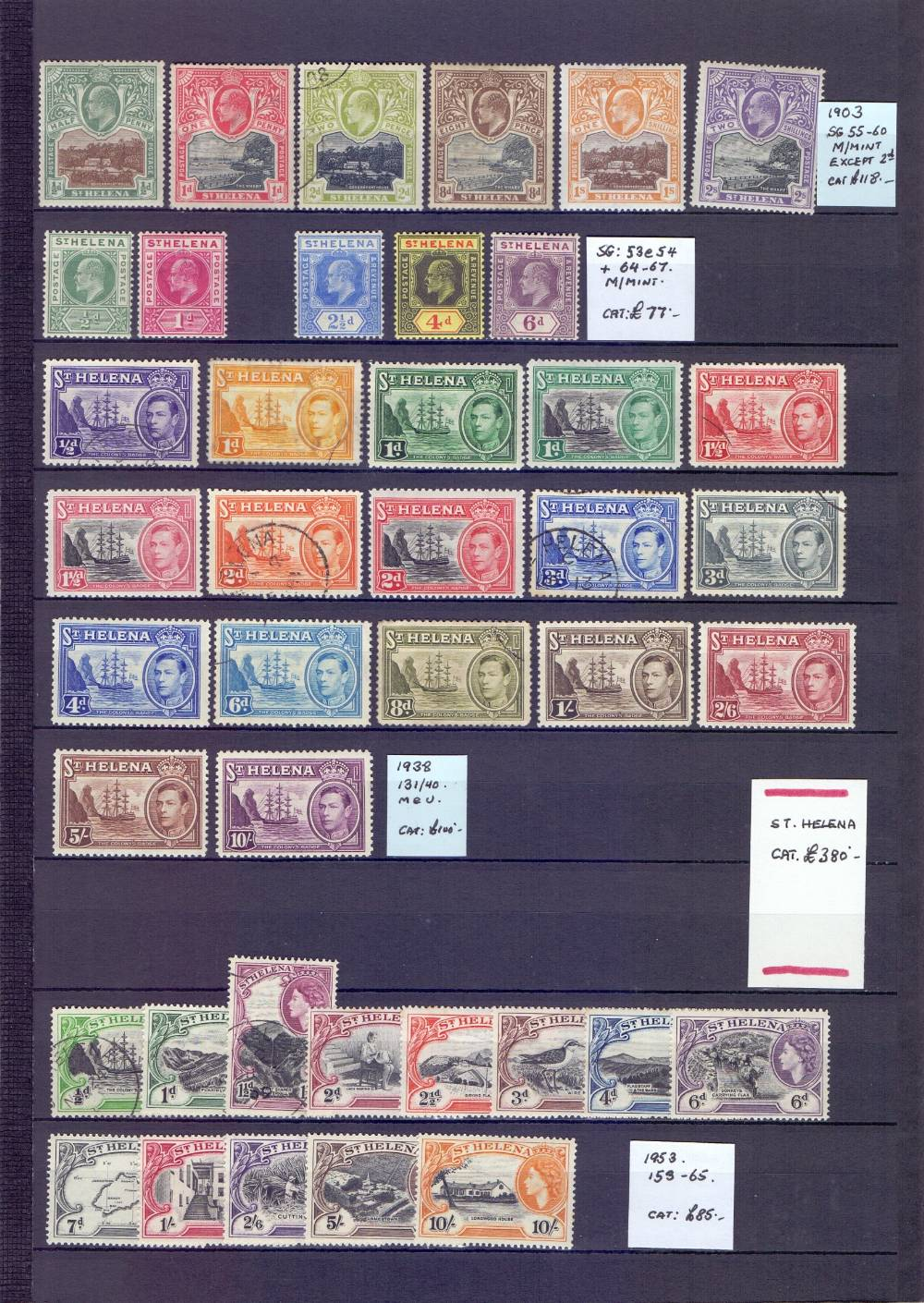 Lot 15 - STAMPS : BRITISH COMMONWEALTH, South Atlantic; collection of Ascension with 1924 GV set to 3/- mint,