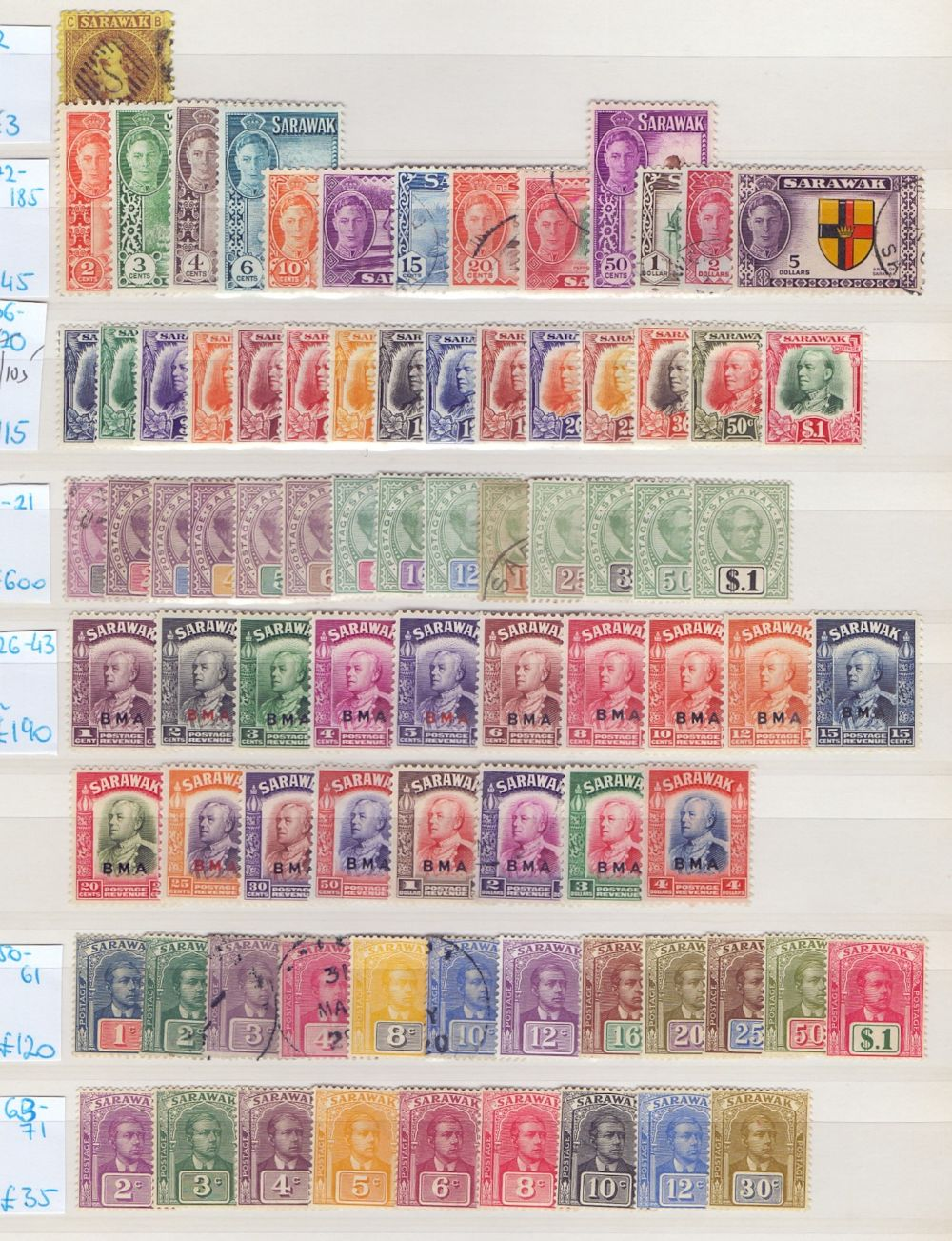 Lot 12 - STAMPS : BRITISH COMMONWEALTH, Burma, Brunei & Sarawak collection on stock pages.