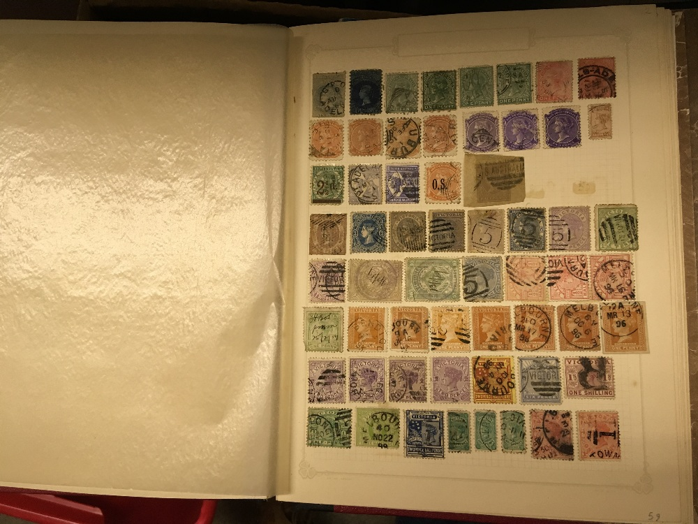Lot 28 - STAMPS : Nine albums with various mint and used Commonwealth part sets, mainly on black pages,