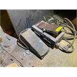 DESCRIPTION ASSORTED ELECTRICAL FOOT CONTROL PEDALS AS SHOWN LOCATION D THIS LOT IS ONE MONEY QUANTI
