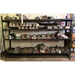 """DESCRIPTION 120"""" X 24"""" X 80"""" 4-TIER METAL SHELVING UNIT (SHELF IS WELDED, CANNOT BE DISASSEMBLED) LO"""