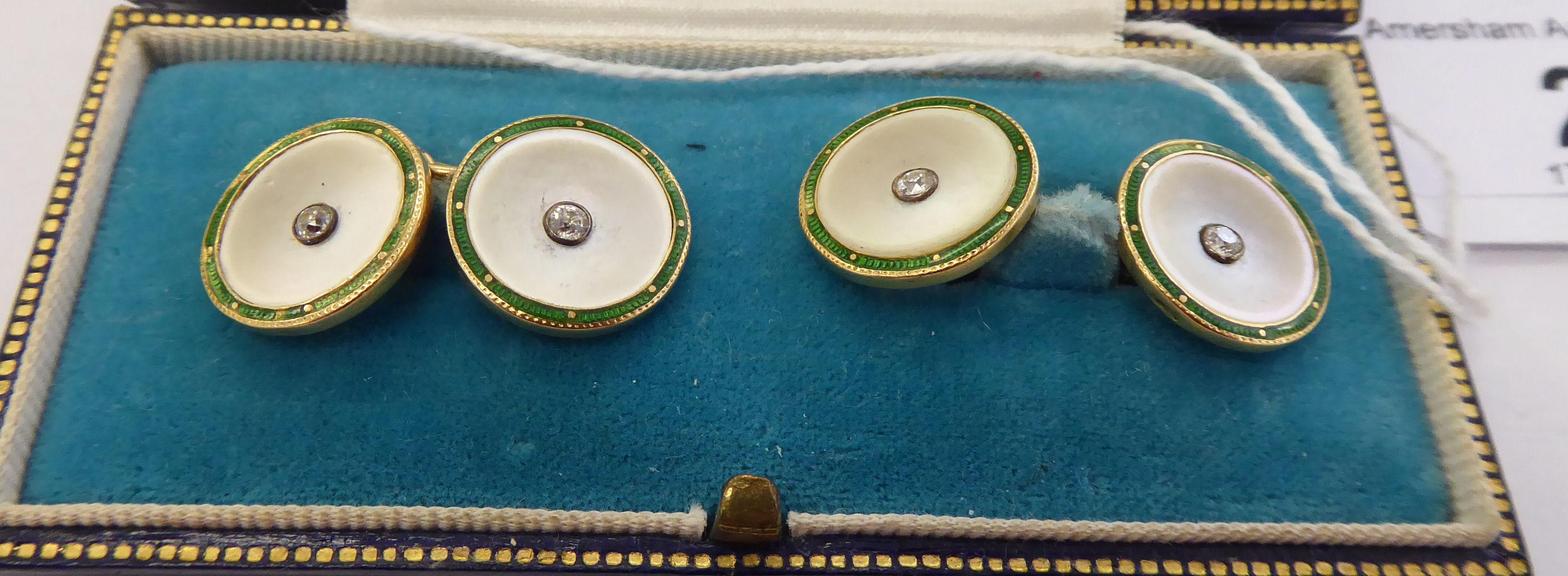 Lot 29 - A pair of 'antique' 18ct gold diamond set,