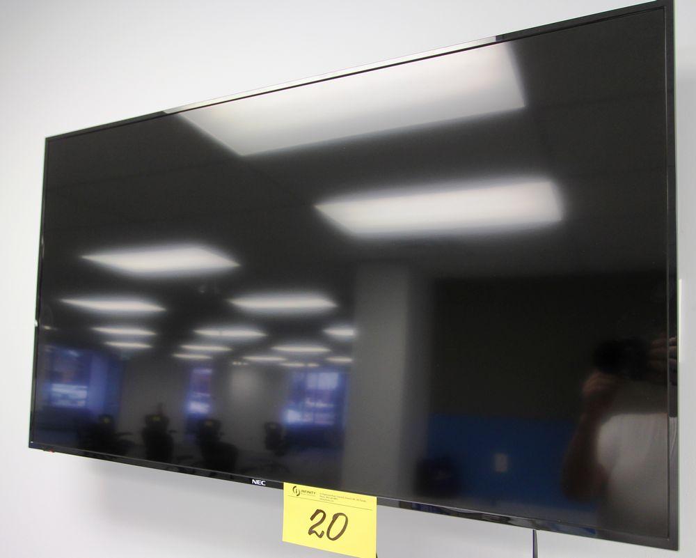 "NEC 50"" FLATSCREEN TV, WALL MOUNTED W/ CONTROLLER"