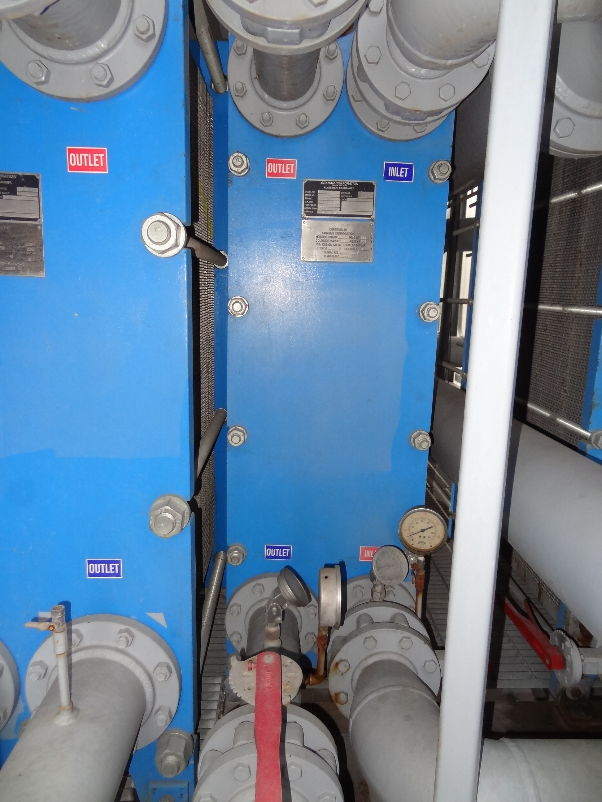 2003 Graham GPE-42 Plate and Frame Heat Exchanger, 1056 sq ft 150 ...