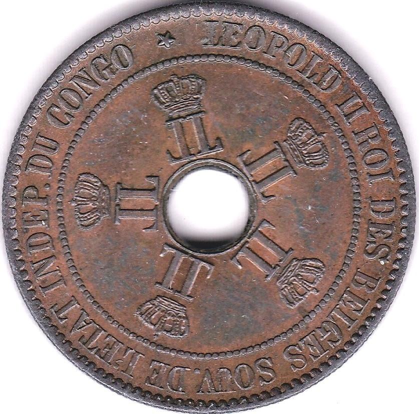 Lot 21 - Belgian Congo 1894 10 Cents, KM 4, AUNC