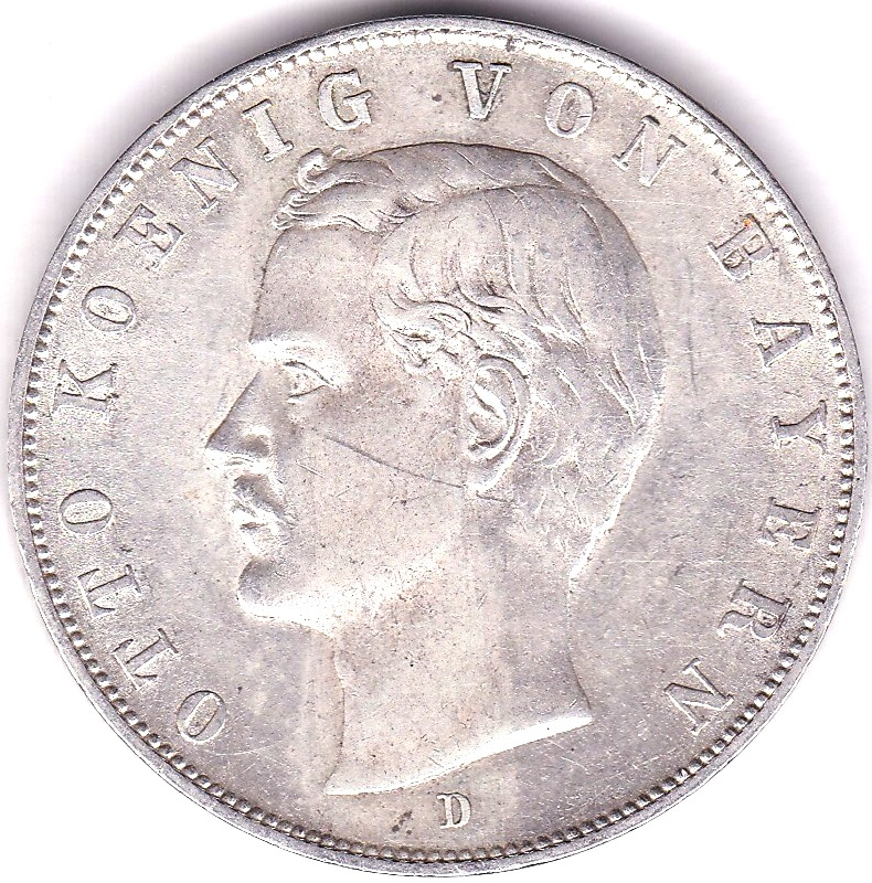Lot 38 - Germany (Bavaria) 1910D 3 Mark, Km 996, AUNC
