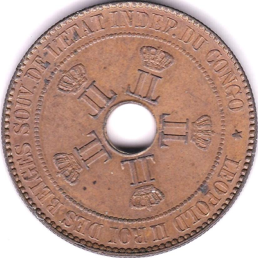 Lot 18 - Belgium Congo 1887 10 Cents, KM 4, AUNC
