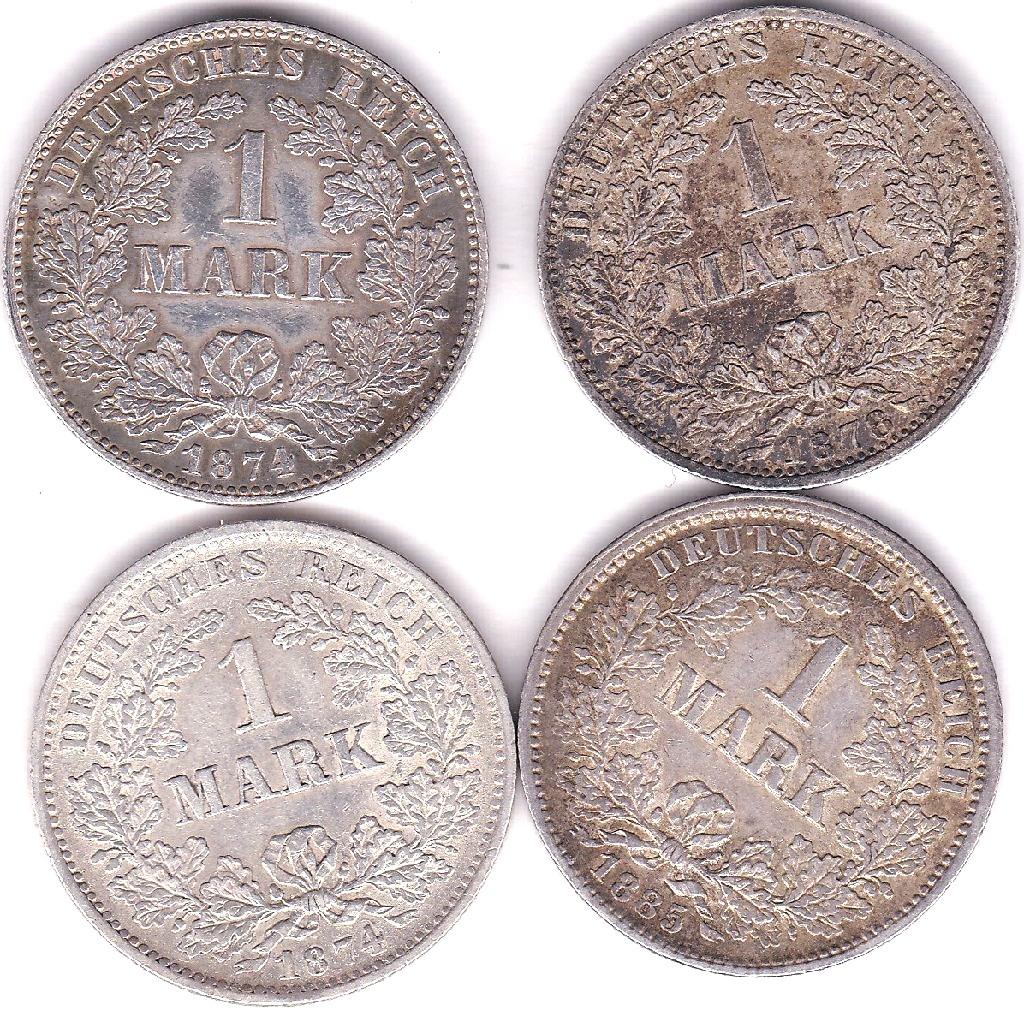 Lot 43 - Germany (Empire) 1874 H Mark, EF KM7, Germany (Empire) 1874 F Mark, GVF/NEF KM7, Germany (Empire)