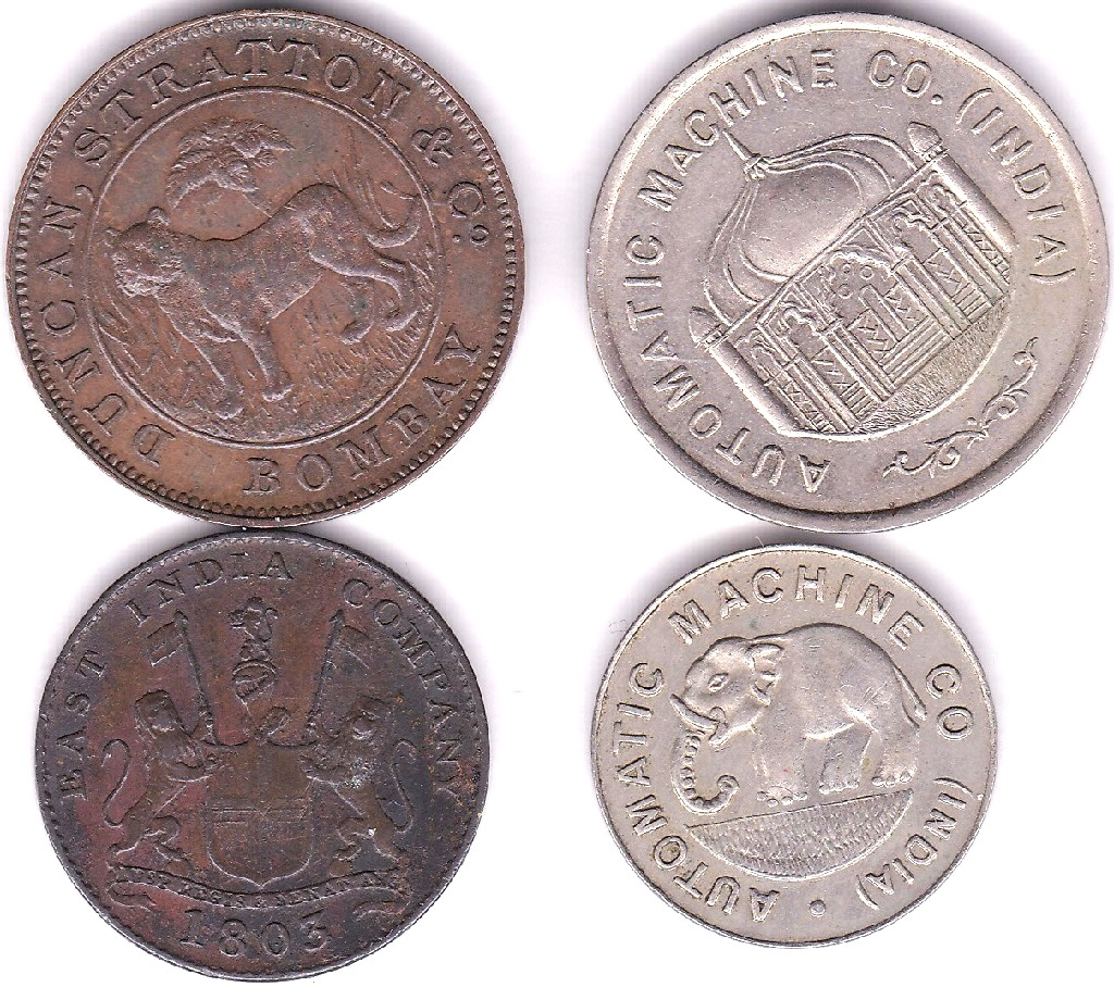 Lot 37 - India 1803 5 Cash, East India Company, AEF, 25 Anna Token, J.H. Somerville/ India, Burma and Ceylon,