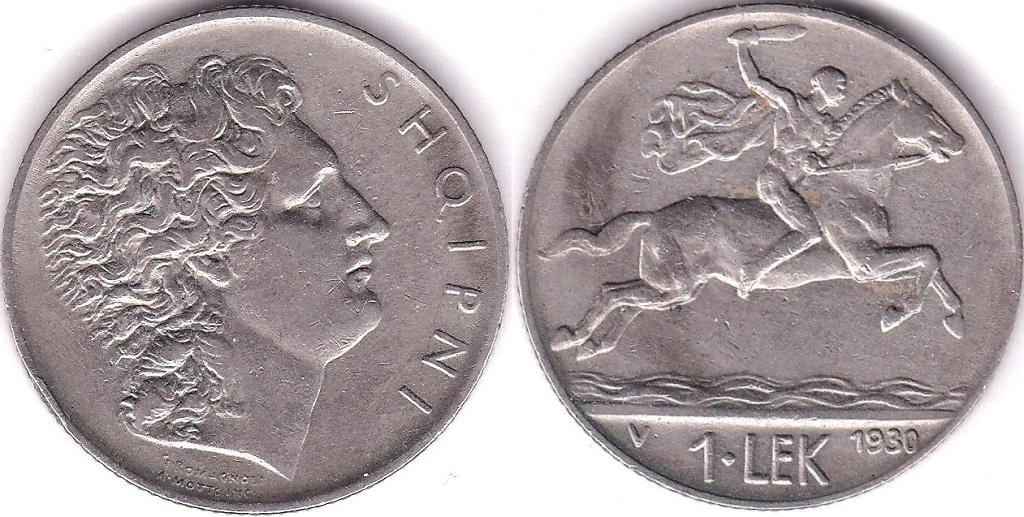 Lot 2 - Albania 1930V Lek, EF, KM 5