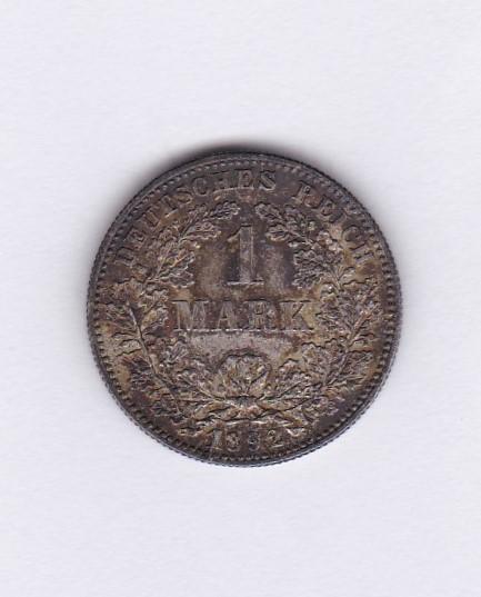 Lot 47 - Germany (Empire) 1892 F, Mark GEF/AUNC KM14, low mintage