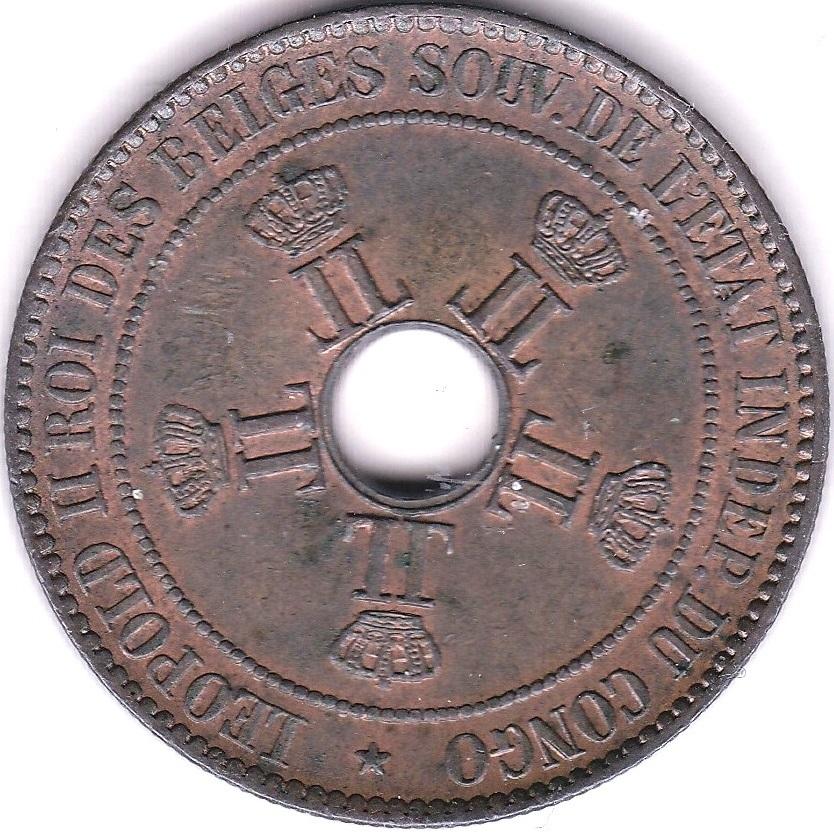 Lot 20 - Belgian Congo 1889 10 Cents, KM 4, AUNC