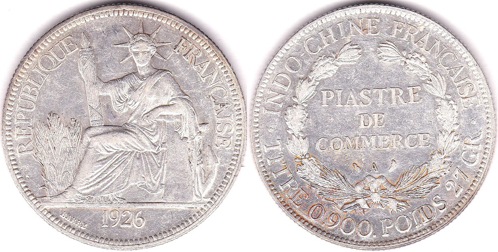 Lot 32 - French Indo-China 1926A Piastre, AUNC, KM5ad, 5a.1