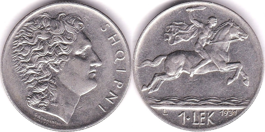 Lot 3 - Albania 1931L Lek, GEF/AUNC, KM 5