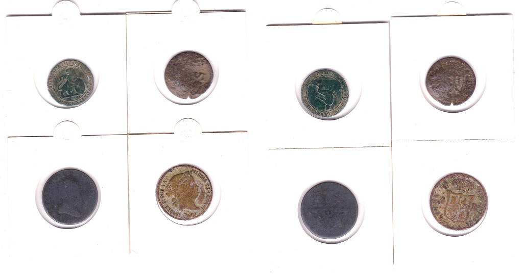 Lot 14 - Spain - four early coins, one countermarked