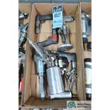 (LOT) ASSORTED PNEUMATIC HAND TOOLS - PARTS SPRAYERS, DRILLS, ANGLE GRINDER
