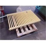 Pallet to contain 2 x cast iron radiators
