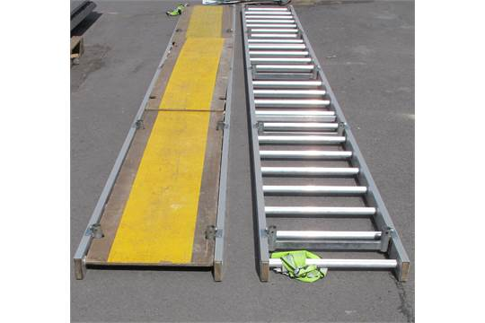 2 x Easi Dec ladder style catwalk platforms, one with