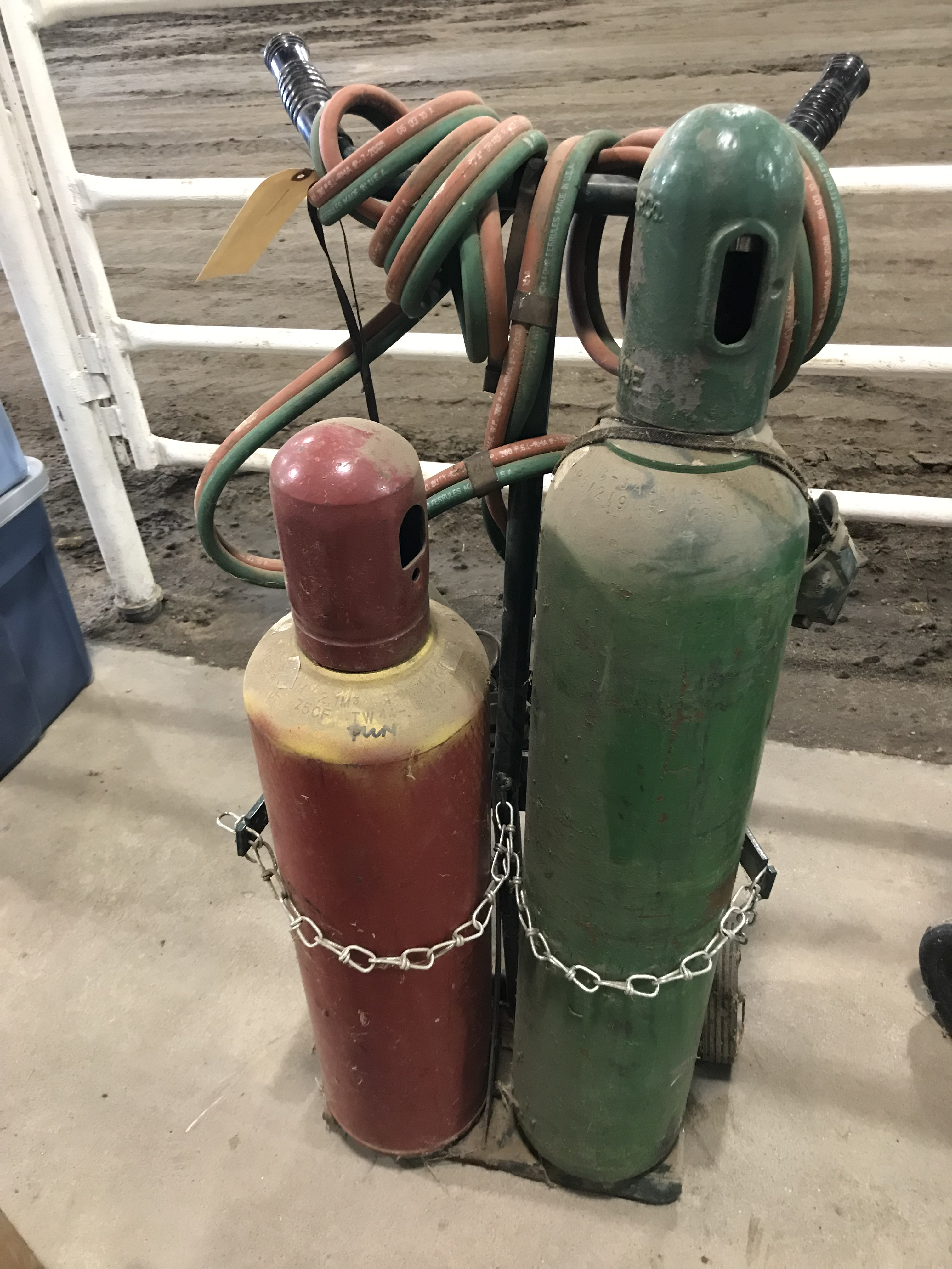 Lot 12 - Sm. Torch Outfit w/Cart