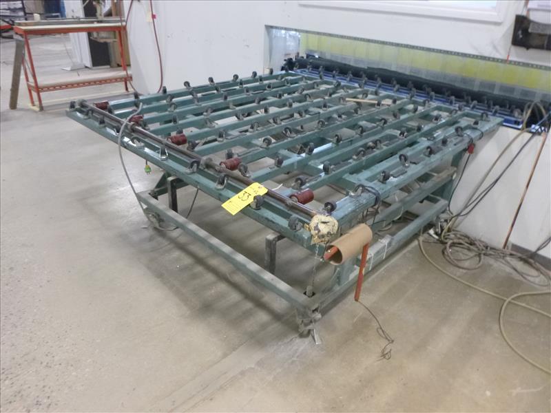 Lot 33 - (2) caster tables c/w pneumatic tilt