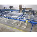(6) caster transfer/inspection tables in Insulating Glass Dept.