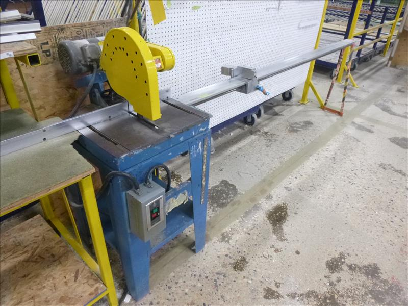 "Lot 15 - CTD 10"" chop saw, mod. M225, ser. no. 1368, , 1.5 hp c/w attachment & work table w/ length stop"